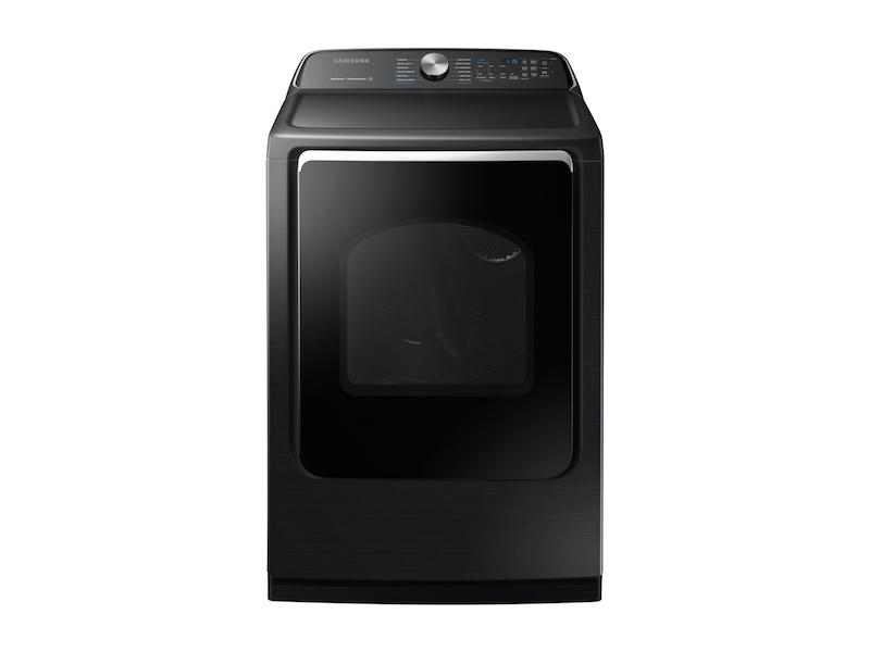 Samsung7.4 Cu. Ft. Electric Dryer With Steam Sanitize+ In Black Stainless Steel
