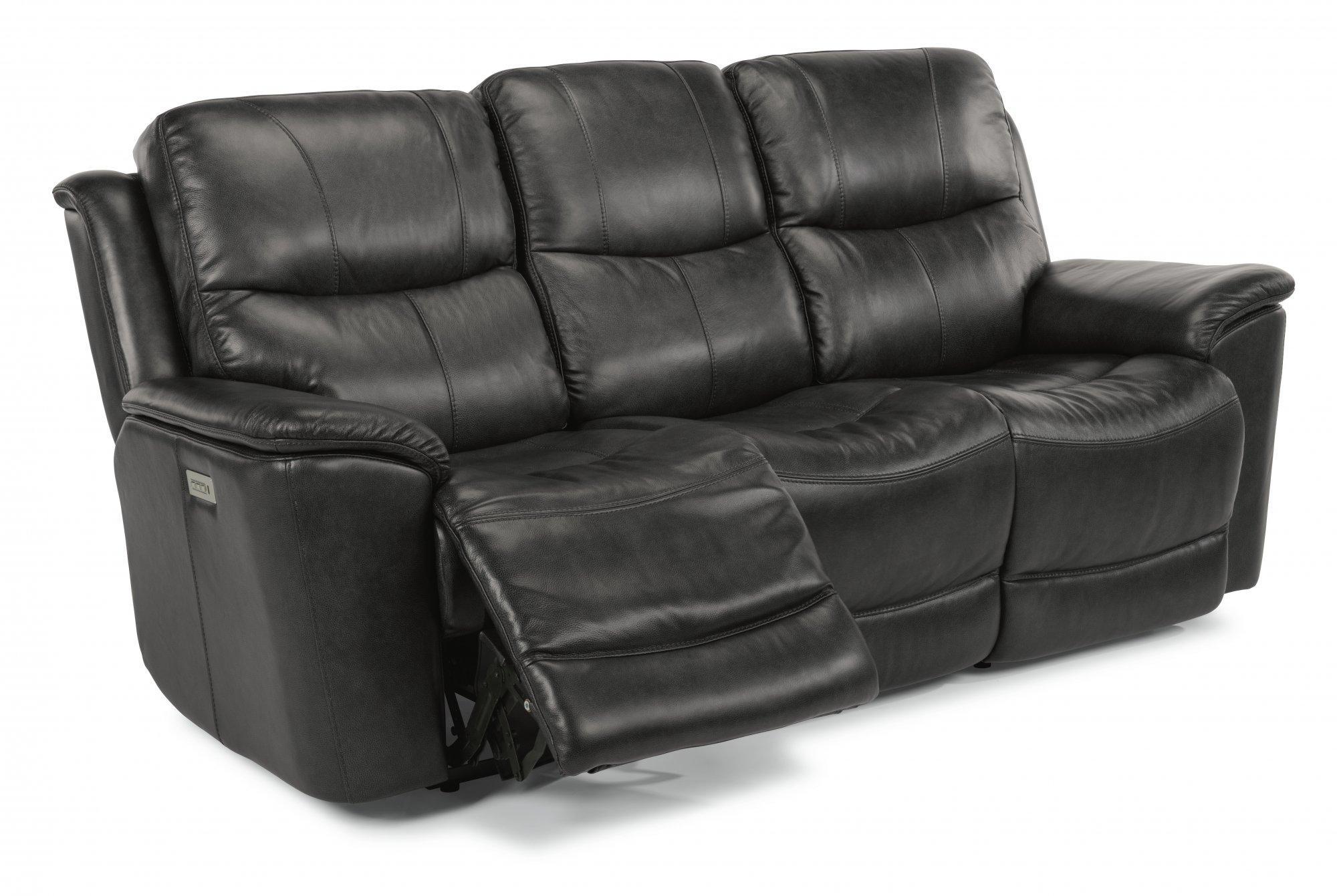 FlexsteelCade Power Reclining Sofa With Power Headrests & Lumbar