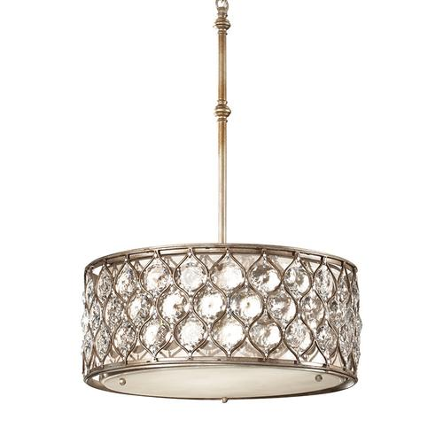Lucia Medium Hanging Shade Burnished Silver