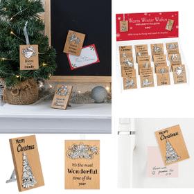 Mini Message Ornament Plaques Assortment (24 pc. assortment)