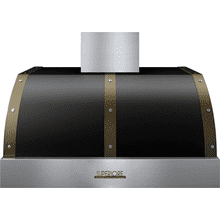 View Product - Hood DECO 36'' Black matte, Bronze 1 blower, electronic buttons control, baffle filters