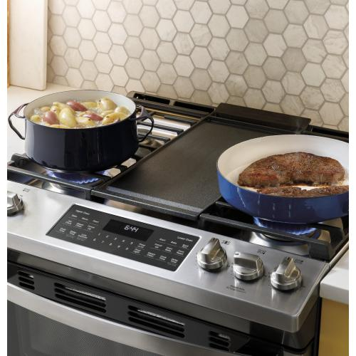 """GE® 30"""" Slide-In Front Control Gas Double Oven Range"""