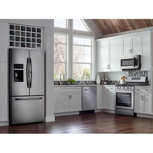 28 cu. ft. Food Showcase 3-Door French Door Refrigerator in Stainless Steel