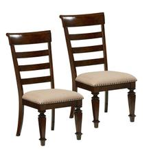 Charleston 2-Pack Upholstered Side Chairs, Brown