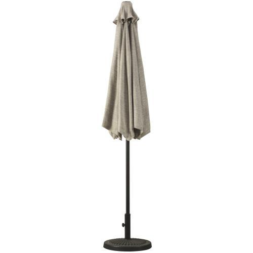 Outdoor Gray Umbrella with Base