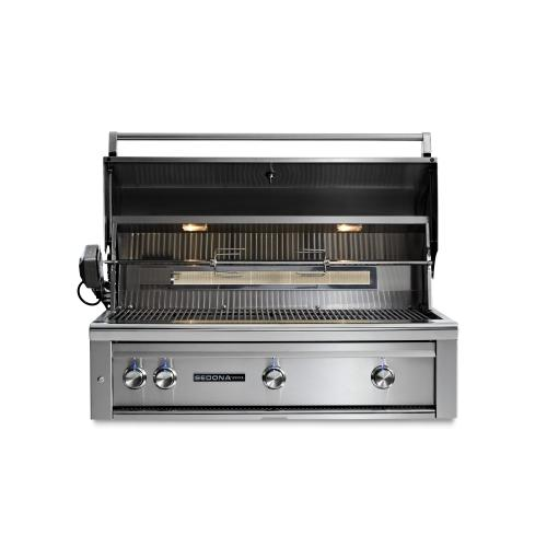 "42"" Sedona by Lynx Built In Grill with 2 Stainless Steel Burners and ProSear Burner and Rotisserie, NG"