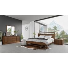 Nova Domus Berlin - Modern Walnut Bedroom Set