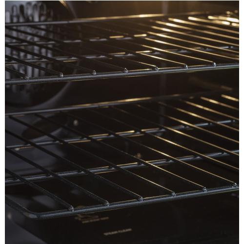 """GE Profile 30"""" Gas Freestanding Convection Range with Warming Drawer Stainless Steel PCGB940ZEJSS"""
