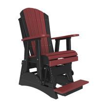 See Details - 2 Adirondack Balcony Glider Chair, Cherrywood-black