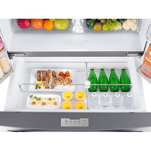 23 cu. ft. Counter Depth 4-Door Refrigerator with FlexZone™ Drawer in Stainless Steel