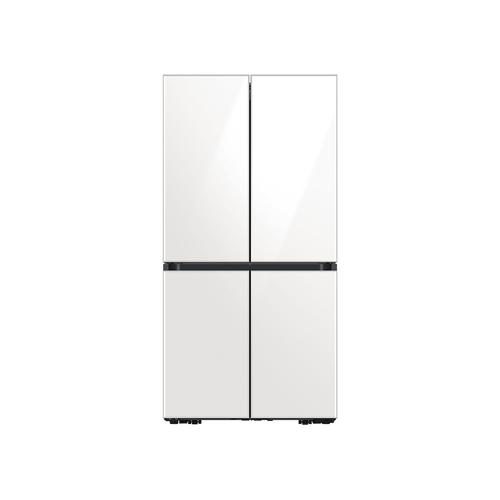 23 cu. ft. Smart Counter Depth BESPOKE 4-Door Flex™ Refrigerator with Customizable Panel Colors in White Glass