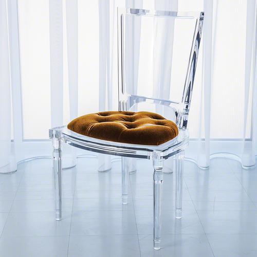 Marilyn Acrylic Side Chair-Brown Sugar
