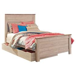 Willowton Full Panel Bed With 1 Large Storage Drawer