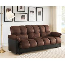7538 DARK BROWN Fabric Sofa Bed