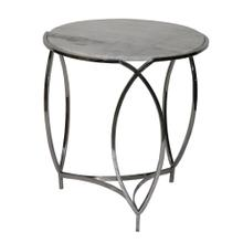 St. Claire Round Marble End Table