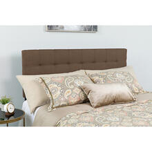 See Details - Bedford Tufted Upholstered Queen Size Headboard in Dark Brown Fabric