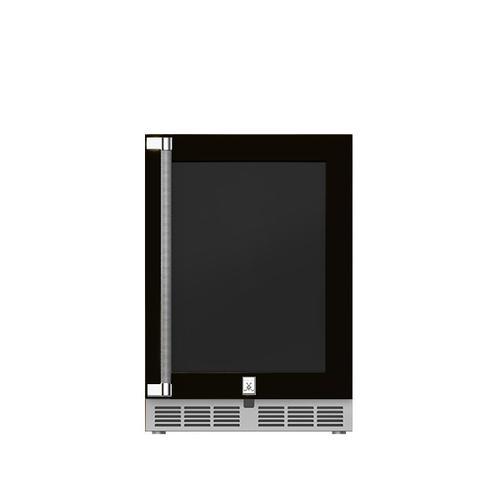 """Hestan - 24"""" Hestan Outdoor Undercounter Refrigerator (Glass Door) - GRGR Series - Stealth"""