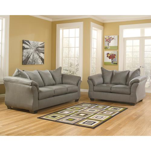 Signature Design by Ashley Darcy Living Room Set in Cobblestone Microfiber [FSD-1109SET-COB-GG]