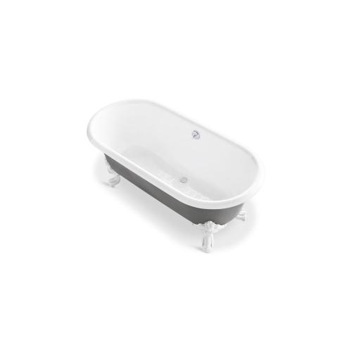 Freestanding Claw Foot Bathtub with Primed Exterior - Primed for Paint
