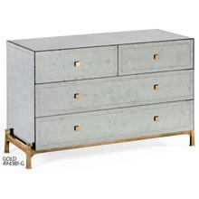 glomise & gilded iron large chest of drawers