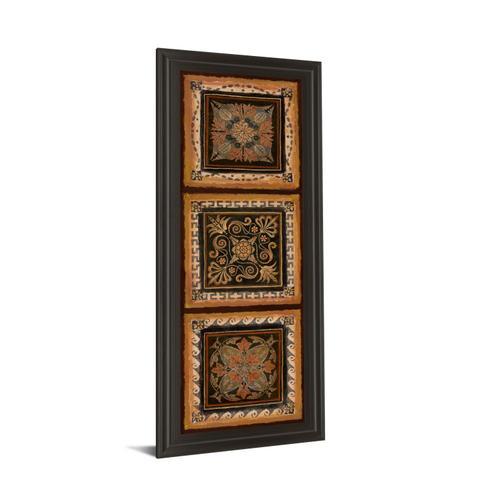 """Classy Art - """"Folk Art Panel Il"""" By Tava Studios Framed Print Wall Art"""