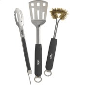 3 Piece Stainless Steel BBQ Toolset