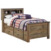 Trinell Twin Bookcase Bed With 2 Storage Drawers