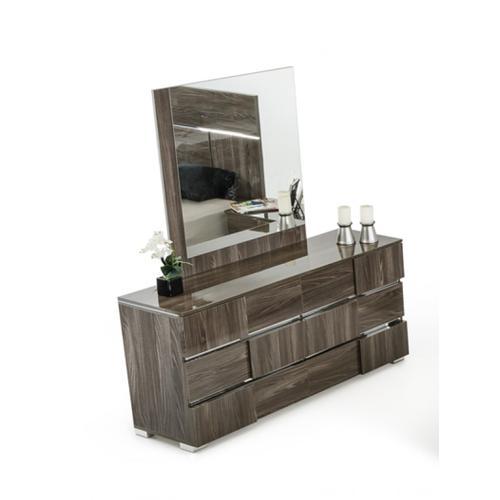 Modrest Picasso Italian Modern Grey Lacquer Mirror