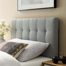 View Product - Lily Twin Upholstered Fabric Headboard in Gray