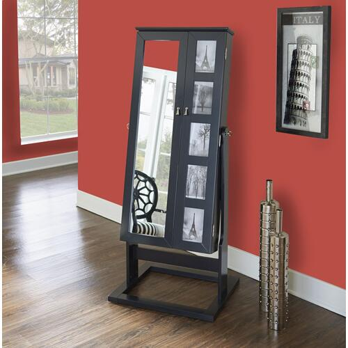 Cheval Photo Jewelry Armoire, Black