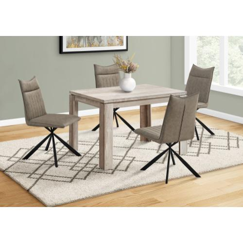 """Gallery - DINING TABLE - 32""""X 48"""" / TAUPE RECLAIMED WOOD-LOOK"""