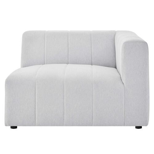 Bartlett Upholstered Fabric Right-Arm Chair in Ivory