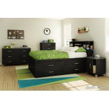 Captain Platform Storage Bed with 4 Drawers - 54''
