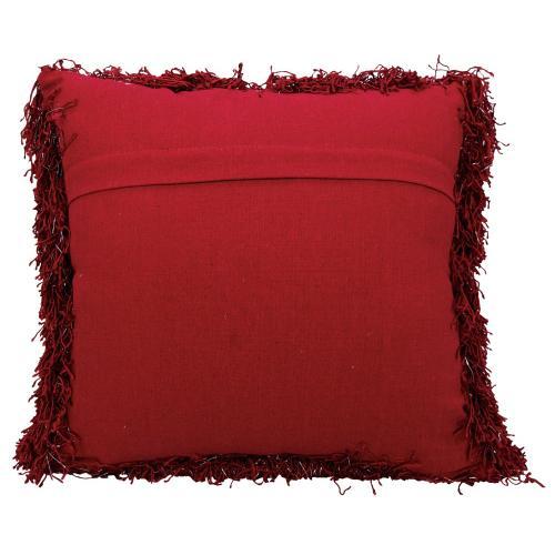 "Shag Tr223 Red 20"" X 20"" Throw Pillow"