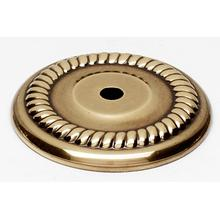 Rope Backplate A813-38P - Unlacquered Brass