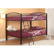 Twin/twin Black Convertible Bunk Bed
