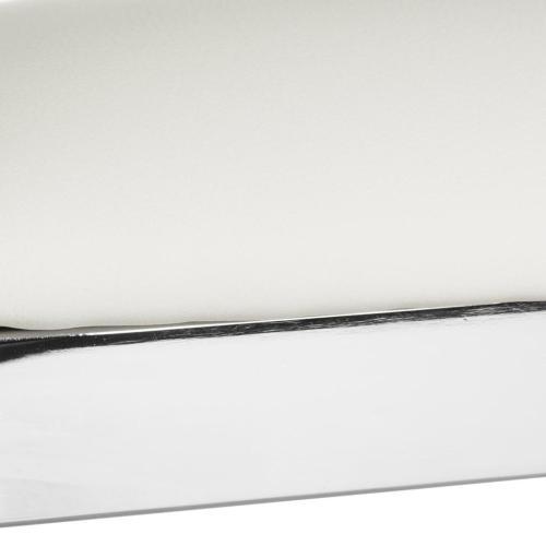 Abby 39'' H Stainless Steel Bar Stool - White