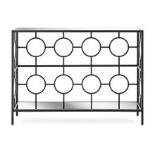 SG Black Ring Mirror Top Console Table