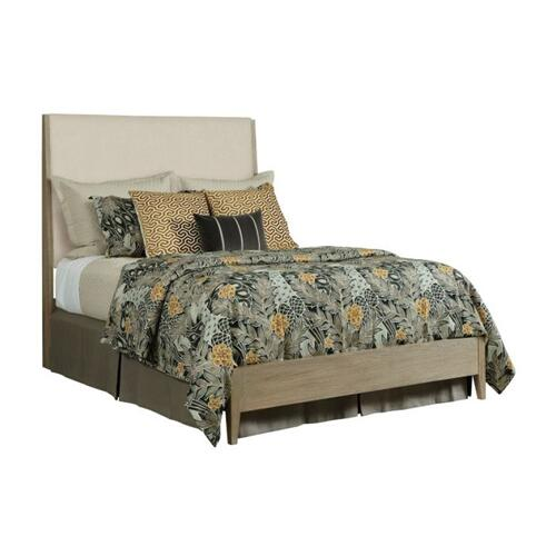 Incline Fabric Queen Bed Low Footboard - Complete