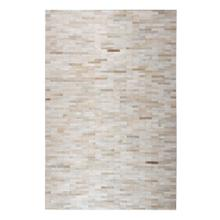 Durable Handmade Natural Leather Patchwork Cowhide Brick Area Rugs by Rug Factory Plus - 8' x 10' / Beige