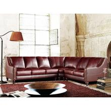 Divani Casa 3024 - Brown Top Grain Italian Leather Sectional Sofa