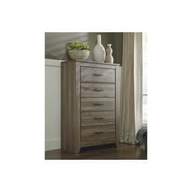 Zelen Five Drawer Chest Warm Gray