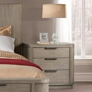 Three Drawer Nightstand - Gray Wash Finish Product Image