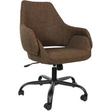 "Hanover Everson 17.75-20.75"" Gas Lift, Wheeled Office Chair in Chocolate, HOC0001"