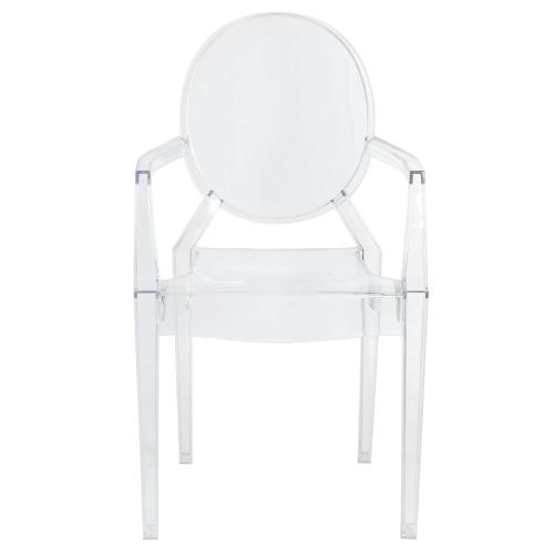 Allegra Molded PC Arm Chair, Transparent Crystal