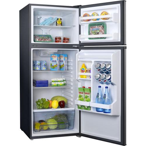 Galanz 10 Cu Ft Top Mount Refrigerator in Stainless Steel Look