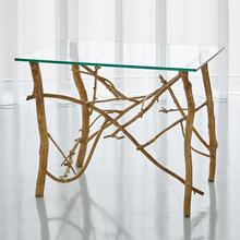 Twig End Table-Gold Leaf