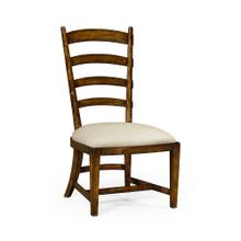 Walnut fireside side chair