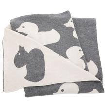 See Details - Duckie Throw - Grey / Ivory