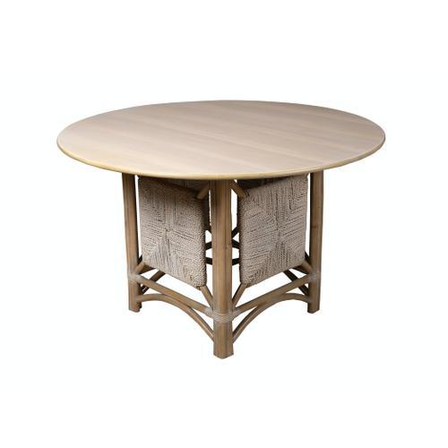 Capris Furniture - Table Base, Grey Twine Finish.